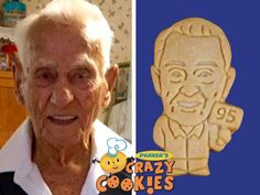 Starring on a dessert buffet or given as party favors to guests, Parker's Crazy Cookies are a thoughtful and creative part of any party...especially one as special as a 95th birthday celebration!