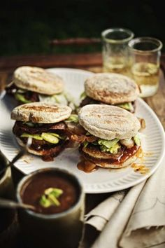 Fried Green Tomato Sandwiches with Bacon and Chutney