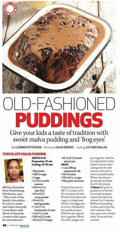 Chocolate Malva Pudding