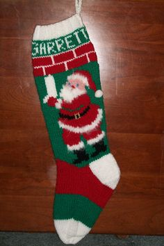 Vintage Christmas Stocking Knitting Pattern : 1000+ images about Christmas Stockings to Knit on Pinterest Vintage christm...