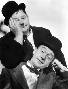 It's Friday so that means Laurel & Hardy time! / Comedy Genuis Stan Laurel and Oliver Hardy For more from the movies head over to:. Laurel And Hardy, Stan Laurel Oliver Hardy, The Comedian, Hollywood Stars, Classic Hollywood, Old Hollywood, Comedy Duos, Classic Comedies, Silent Film