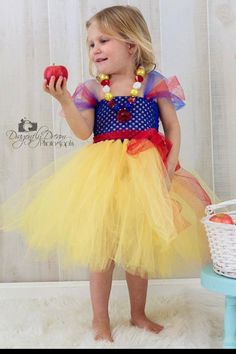 Pretty sure we have a snow white costume too....but these are just cute... Snow White tutu dress