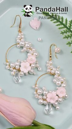 Wire Jewelry Designs, Diy Crafts Jewelry, Handmade Beaded Jewelry, Bracelet Crafts, Beaded Jewelry Patterns, Fabric Jewelry, Diy Earrings Easy, Bijoux Diy, Jewelry Making Tutorials