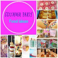 Slumber Party Food Ideas http://kidbirthdayparty.net/slumber-party-food-ideas-sleeopver-birthday-theme/