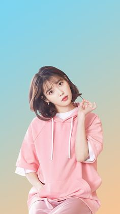 Korean Beauty Girls, Cute Korean Girl, Asian Beauty, Asian Girl, Iu Short Hair, Iu Hair, Short Hair Styles, Iu Fashion, Korean Fashion