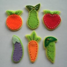 fruits and veggies for hair clips