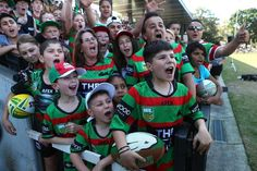 Screaming fans at Redfern Oval
