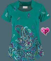 UA Tango Twist Emerald Isle Print Top