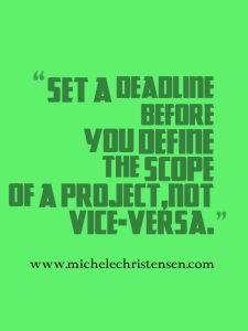 Creating deadlines can help solopreneurs by making sure they spend the right amount of time on a project.