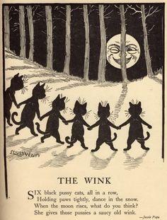 theblackcatzon:  illustratedcats: Louis Wain