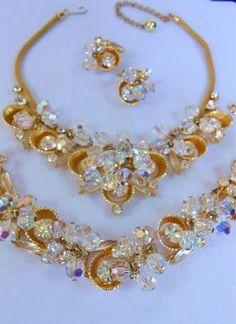 Stunning Vintage Juliana AB Crystal Rhinestone Necklace Bracelet Earrings Set   eBay