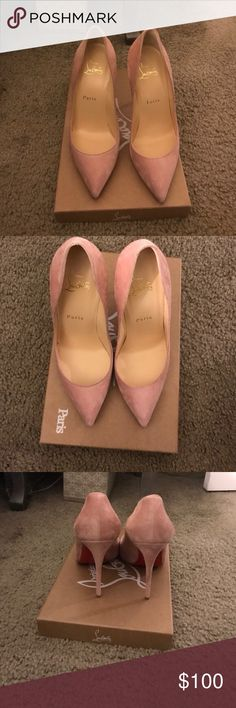 Real Louis Vuitton heels Cute. Nude/pink. A few sizes available Louis Vuitton Shoes Heels