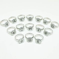 Working in batches again! Here are all my initial rings I got done today to ship out Monday! #initials #rings #etsy #jennascifresdesigns