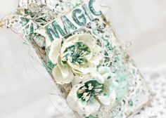 Tiffanys Paper Designs: Magic mixed media tag. More than words challenge.