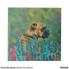 Deutscher Boxer nr.5 Fliese Painting, Art, Tiles, Idea Paint, Art Ideas, Pet Dogs, Painting Art, Paintings, Kunst