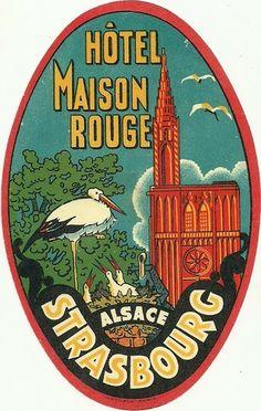 Hotel Maison Rouge Luggage Deco Label Strasbourg | eBay