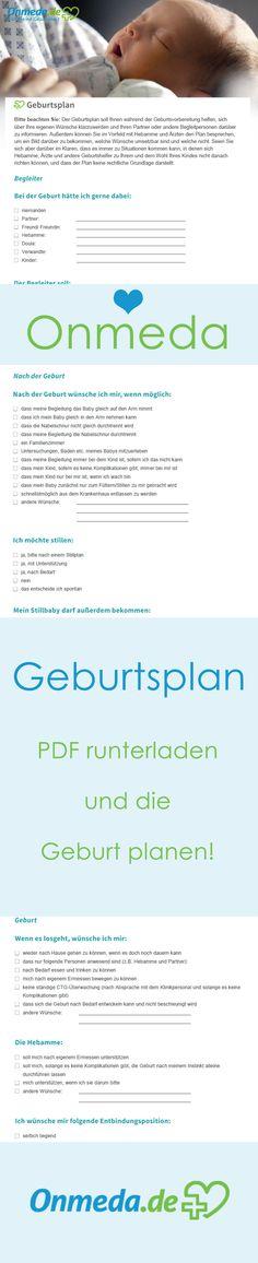Geburtsplan: PDF runterladen und individuellen Plan erstellen!