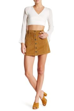 65c68dd3eb Corduroy Button Front Skirt Button Front Skirt, Nordstrom Rack, Mini Skirts,  Corduroy,