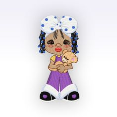 African American Little Lady 2 Embroidery by CeciliasEmbroidery, £4.50