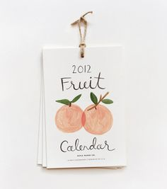 Painted fruit calendar