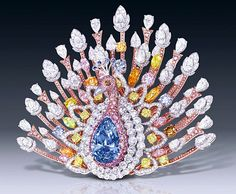 This list has the top 10 most expensive jewelry items in the world is populated by pieces ranging from pink diamond rings to peacock brooches. Diamond Brooch, Diamond Gemstone, Diamond Jewelry, Graff Jewelry, Jewellery Box, Luxury Jewelry, Jewlery, Most Expensive Jewelry, Antique Jewelry