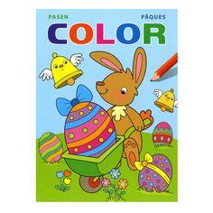 Pak je potloden of stiften en kleur de mooiste tekeningen met dit dikke Paas kleurboek. Afmeting: 22 x 30 cm. - Kleurboek Pasen