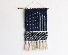 This dark indigo mudcloth tapestry is available in my shop. I haven't had many ready-to-wear pieces available lately but right now there are 2 secret adds! The bottom half is woven mudcloth scraps and a thick cotton fringe. The top is a full cut of mudcloth with a handwoven backing. It's dark and mysterious and so chic!