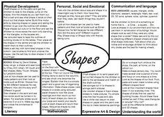 Shapes EYFS Medium Term plan An interesting way of looking at planning Eyfs Curriculum, Maths Eyfs, Eyfs Activities, Nursery Activities, Curriculum Planning, Numeracy, Shape Activities, Eyfs Classroom, Creative Curriculum