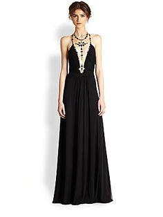 ALON LIVNE Nofar Embellished Tulle Illusion Gown 1