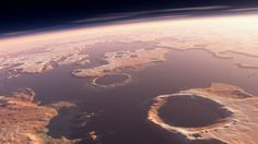 Scientists have located an impact crater linked to powerful tsunamis that swept across part of ancient Mars.