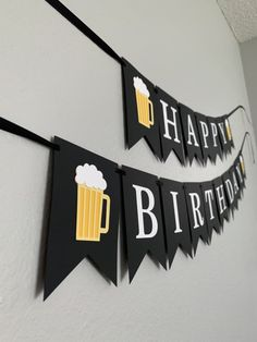 Happy Birthday Beer Banner / Beer Birthday / Birthday Banner / Cheers and Beers Decor / Birthday Banner for Him Excited to share this item from my shop: Happy Birthday Beer Banner / Beer Birthday / Birthday Banner / Cheers and Beers Decor Beer Birthday Party, Diy Birthday Banner, Birthday Backdrop, 30th Birthday Parties, Happy Birthday Banners, Birthday Party Themes, 30th Birthday Ideas For Women, Guys 21st Birthday, Happy Birthday Papa