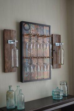 Wine glass rack:
