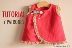 DIY Costura: vestido de bebé (patrones gratis) Baby Outfits, Baby Girl Dresses, Baby Dress, Kids Outfits, Sewing For Kids, Baby Sewing, Fashion Kids, Clothing Patterns, Dress Patterns