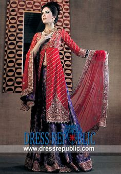 Red Blue Missoni, Product code: DR4472, by www.dressrepublic.com - Keywords: Bridal Lehengas Perth, Australia, Lehengas Sydney, Australia, Indian Bridals Australia Online