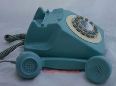 GPO 746 telecom red rotary dial phone