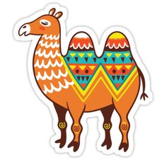 Seamless pattern of desert animals with ethnic, tribal ornaments. Vector illustration. Funny cartoon character. • Also buy this artwork on stickers, apparel, phone cases, and more.
