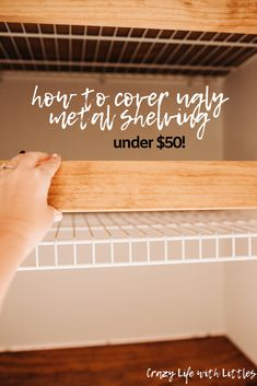 linencloset organization bathroomideas cover ugly metal shelving with faux floating shelves This budget friendly DIY will completely transform your pantry linen closet or bedroom closets Do It Yourself Quotes, Do It Yourself Home, Bathroom Linen Closet, Closet Bedroom, Entry Closet, Bedroom Decor, Small Bathroom, Ikea Hack Bathroom, Closet Office