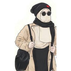 Girl Cartoon, Cartoon Art, Hijab Drawing, Art Drawings Sketches Simple, Hot Goth Girls, Girly M, Anime Muslim, Hijab Cartoon, Islamic Girl