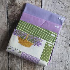 Zbytkový balíček látek levandule fialovo-zelený Pot Holders, Scrappy Quilts, Hot Pads, Potholders