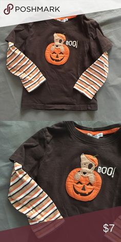 Janie & Jack BOO Pumpkin Halloween Shirt 3t unisex Kids size 3t. Can be unisex. In overall good condition with minimal fade from normal wash wear. Check out our closet for great bundle offers! Price firm unless bundled! Janie and Jack Shirts & Tops Tees - Long Sleeve