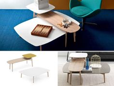 Match Double Table and Coffee Table by Calligaris -- separate tables perfect for overlapping!