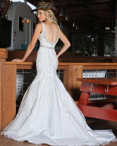 Make an impression on your future spouse & all wedding guests when you wear this DaVinci mermaid Bridal Style #50312