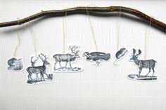 Fensterschmuck - Waldtiere-Anhänger Geschenkanhänger Weihnachten - ein Designerstück von DesignArbyte bei DaWanda