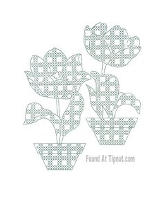Gingham Flowers Pattern Set: {Cross Stitch & Embroidery}