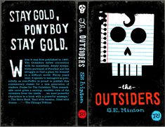 Example of previous 'outsiders' cover. good references to the narrative and themes.