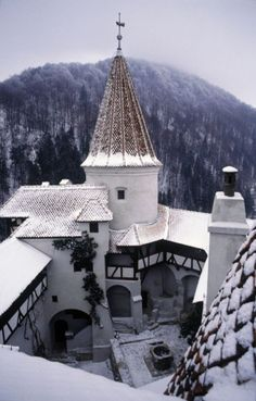 Dracula Castle In Transylvania - visited Romania (and the castle) years ago. My mother's native land! Transilvania Dracula, Dracula Castle, Vampire Castle, Medieval Castle, Chateau Medieval, Der Ganzen Welt, Kirchen, Transylvania Castle, Transylvania Romania