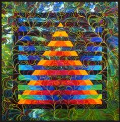 Illusion #16: © 1996, Quilt Art Record by Caryl Bryer Fallert