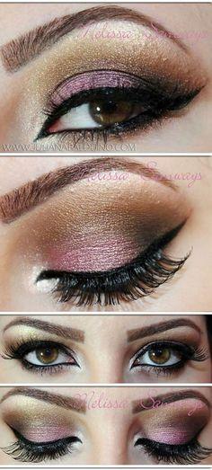 Brown and Pink Smokey Eye
