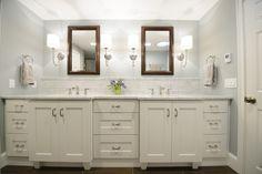 Lisa Scheff Designs - Stunning White Master Bathroom with dual vanity