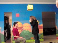 The Super Mario Proposal is Geek Love at its Greatest #romance trendhunter.com